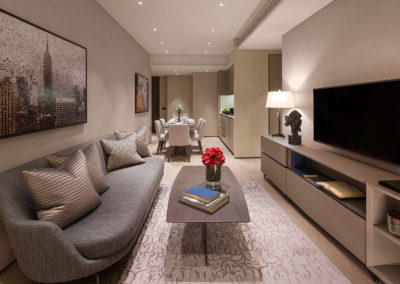 Oakwood Premier OUE Singapore - Two-Bedroom Apartment (Living Room)